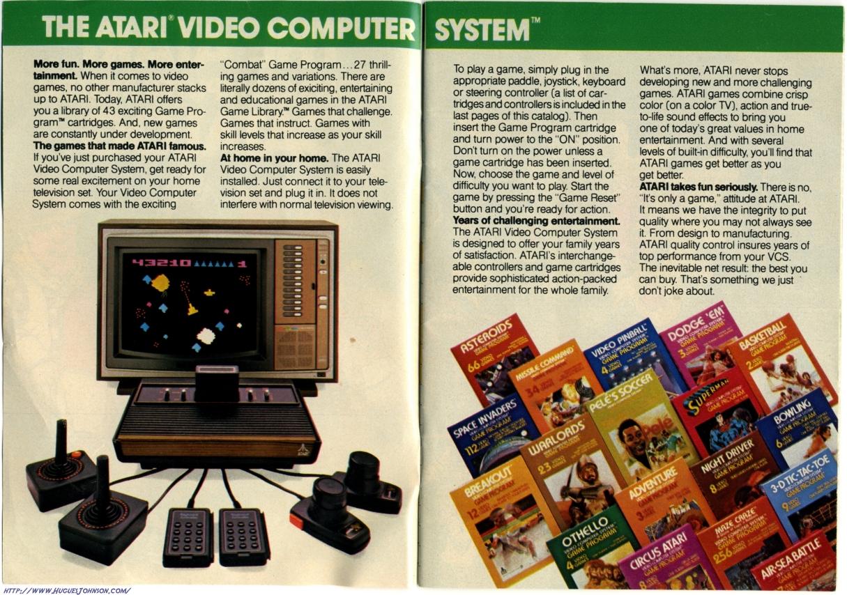 Huguesjohnson Com Atari Catalog 1981 Scans