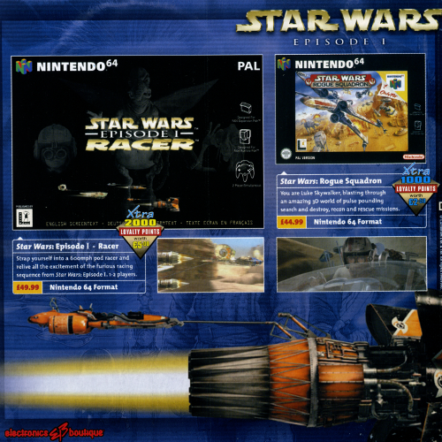 Electronics Boutique UK Star Wars Catalog