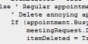 Outlook VBA - Coping with annoying appointments