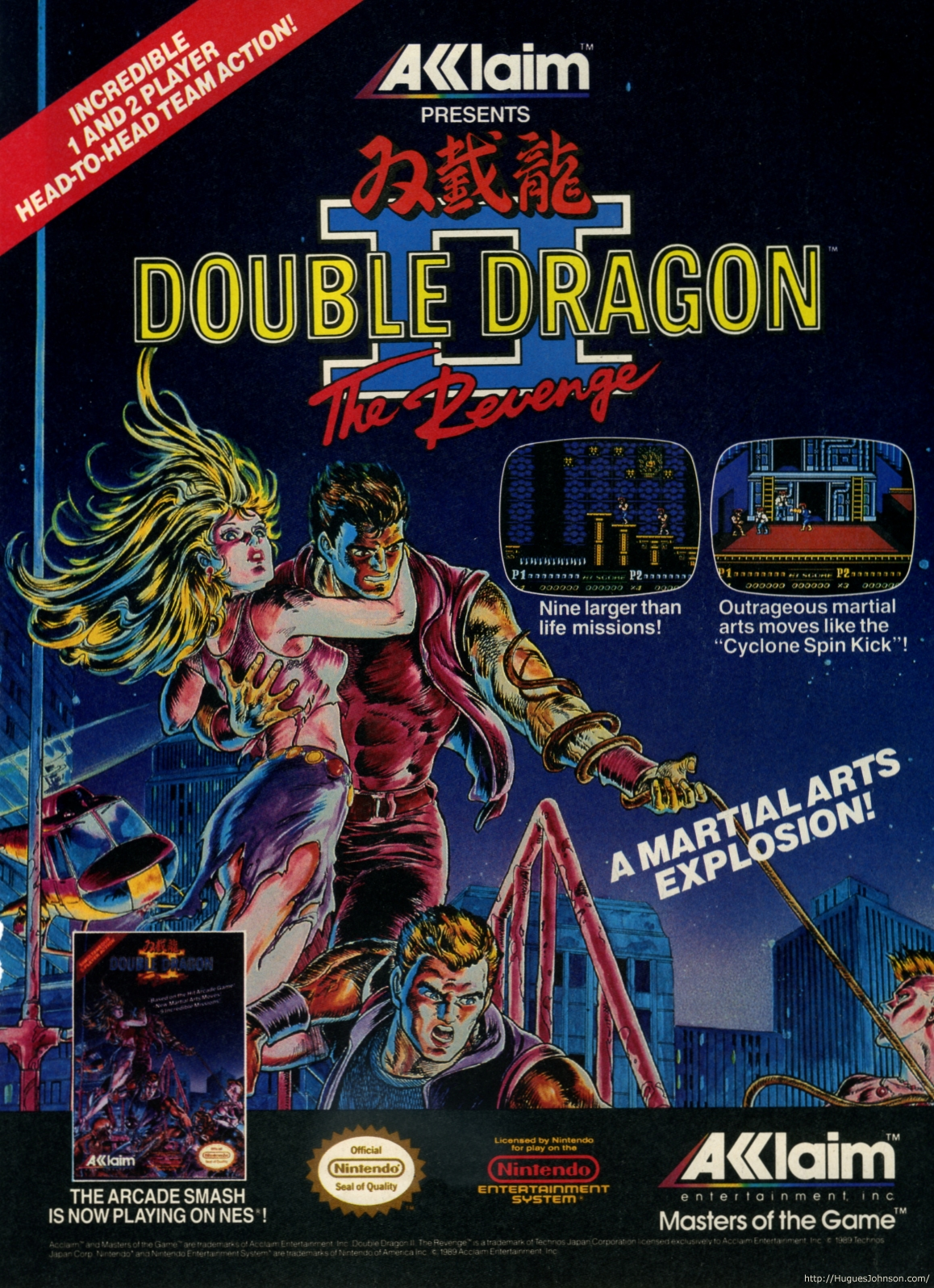 there s an ad for double dragon ii the revenge