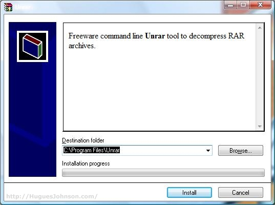 HuguesJohnson com: Coping with RAR files in Windows Vista