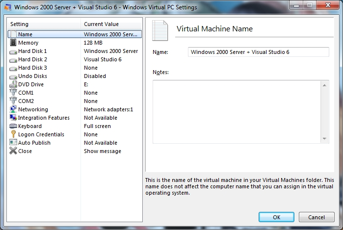 HuguesJohnson com: Windows 2000 Server + Visual Studio 6 Virtual Machine