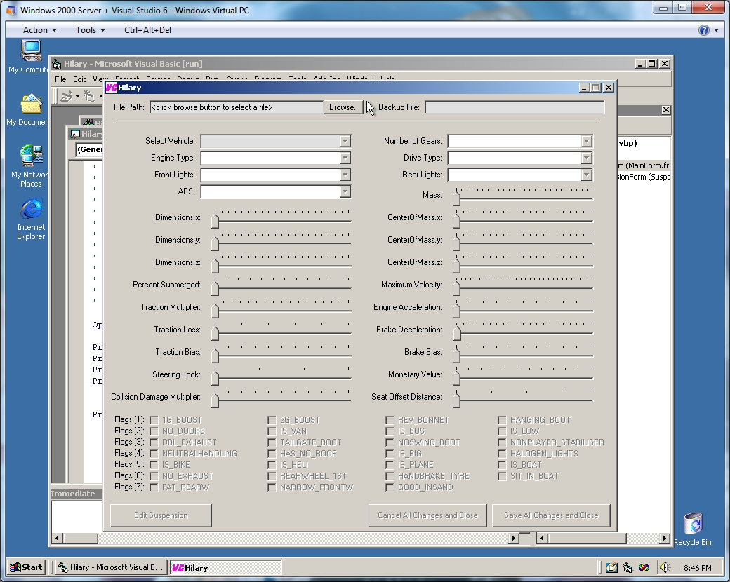 running an existing visual basic 6 project